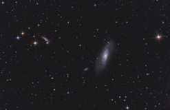 venati галактики m106 тросточек спиральн стоковые фотографии rf