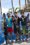 Vencedor asiático de 2011 campeonatos de IWWF Fotografia de Stock