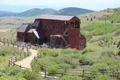 Vencedor, CO - cidade das minas - fuga do vale do Vindicator fotografia de stock