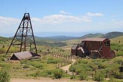 Vencedor, CO - cidade das minas - fuga do vale do Vindicator imagens de stock