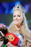 Vencedor da beleza da competição N.Pereverzeva de Rússia 2011 Imagem de Stock