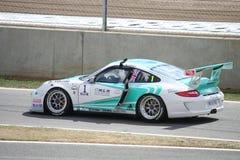Vencedor da raça do copo de Porsche Carrera Imagem de Stock