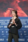 Vencedor de Elena Okopnaya do urso de prata em Berlinale 2018 Fotografia de Stock