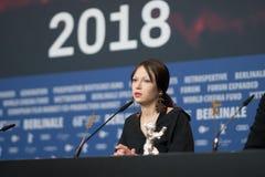 Vencedor de Elena Okopnaya do urso de prata em Berlinale 2018 Imagens de Stock