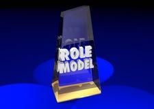 Vencedor de Example Mentor Award do modelo Foto de Stock Royalty Free