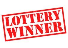 Vencedor de loteria Foto de Stock Royalty Free