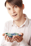 Vencedor do casino Imagem de Stock