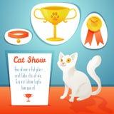 Vencedor do gato Imagem de Stock