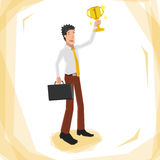 Vencedor do homem Fotografia de Stock