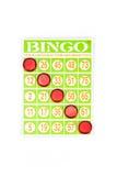 Vencedor do jogo do bingo Fotos de Stock Royalty Free