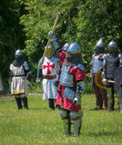 Vencedor - festival medieval da vila superior de Canadá Fotografia de Stock Royalty Free
