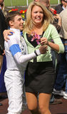 Vencedor Joe Talamo de Santa Anita Derby Imagem de Stock Royalty Free