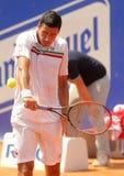 Vencedor rumano Hanescu del jugador de tenis Fotos de archivo