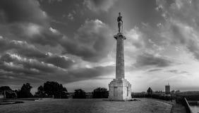 Vencedor, símbolo de Belgrado, Serbia Foto de archivo