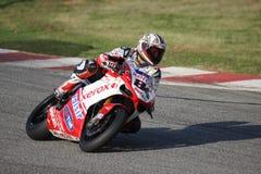 Vencedor SBK Kyalami da raça 1 de Michel Fabrizio Foto de Stock Royalty Free