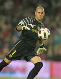 Vencedor Valdes de FC Barcelona Imagen de archivo