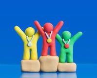 Vencedores da argila Imagem de Stock