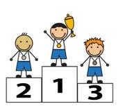 Vencedores da concessão Imagem de Stock Royalty Free