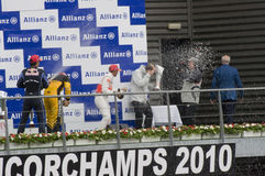 Vencedores da raça de fórmula 1 fotos de stock
