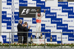 Vencedores da raça de fórmula 1 Foto de Stock Royalty Free