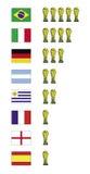 Vencedores do campeonato do mundo Fotografia de Stock