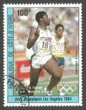 Vencedores do jogo olímpico de Los Angeles, Tiacoh fotografia de stock
