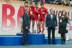 Vencedores do memorial A do campeonato do mundo Kharlampiev Imagem de Stock