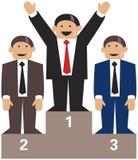 Vencedores do pódio dos homens de negócio Foto de Stock