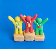 Vencedores do Plasticine Imagens de Stock