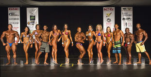 2014 vencedores dos campeonatos do universo de NPC Fotos de Stock Royalty Free