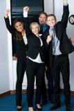 Vencedores no negócio, comemorando o sucesso Imagens de Stock Royalty Free