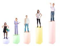 Vencidos e vencedores no negócio Fotografia de Stock