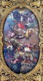 Vencie - tak av den Cappella dellaen SS Vergine del Rosario från cent cent 17 Arkivfoton