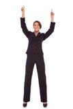 Vencimento muito feliz da mulher de negócio Fotografia de Stock Royalty Free