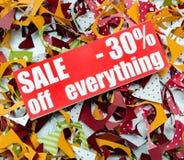 Venda até 30 por cento Fotos de Stock Royalty Free