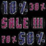 Venda brilhante da inscrição! com por cento Imagem de Stock Royalty Free