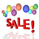 Venda com balões! Imagens de Stock Royalty Free