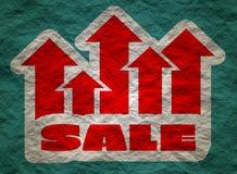 A venda cresce acima a etiqueta Fotografia de Stock
