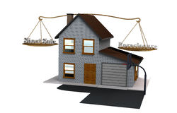 Venda curto contra a execução duma hipoteca Imagem de Stock