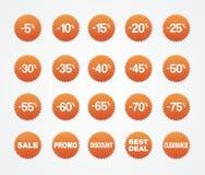 Venda da etiqueta, disconto, afastamento, o melhor negócio, promo Imagens de Stock