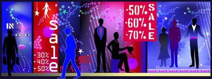 Venda da loja da forma dos homens Imagens de Stock Royalty Free