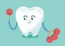 Venda da mostra do dente acima ilustração stock