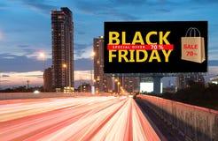 Venda da oferta especial de Black Friday Fotos de Stock