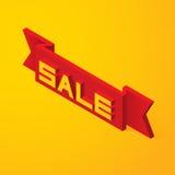venda da rotulação 3D na fita Fotos de Stock