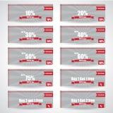 Venda da Web/etiqueta, etiqueta, encabeçamento ou bandeira do disconto Imagens de Stock Royalty Free