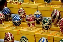 Venda das lembranças nos montes do pardal em Moscovo Foto de Stock Royalty Free