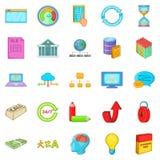 A venda de ícones dos dados ajustou-se, estilo dos desenhos animados ilustração royalty free