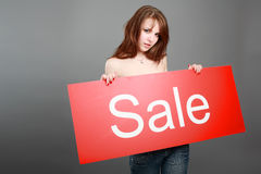 Venda de anúncio Imagem de Stock