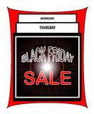 Venda de Black Friday Fotografia de Stock Royalty Free