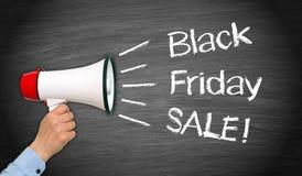 Venda de Black Friday - megafone com texto Imagens de Stock